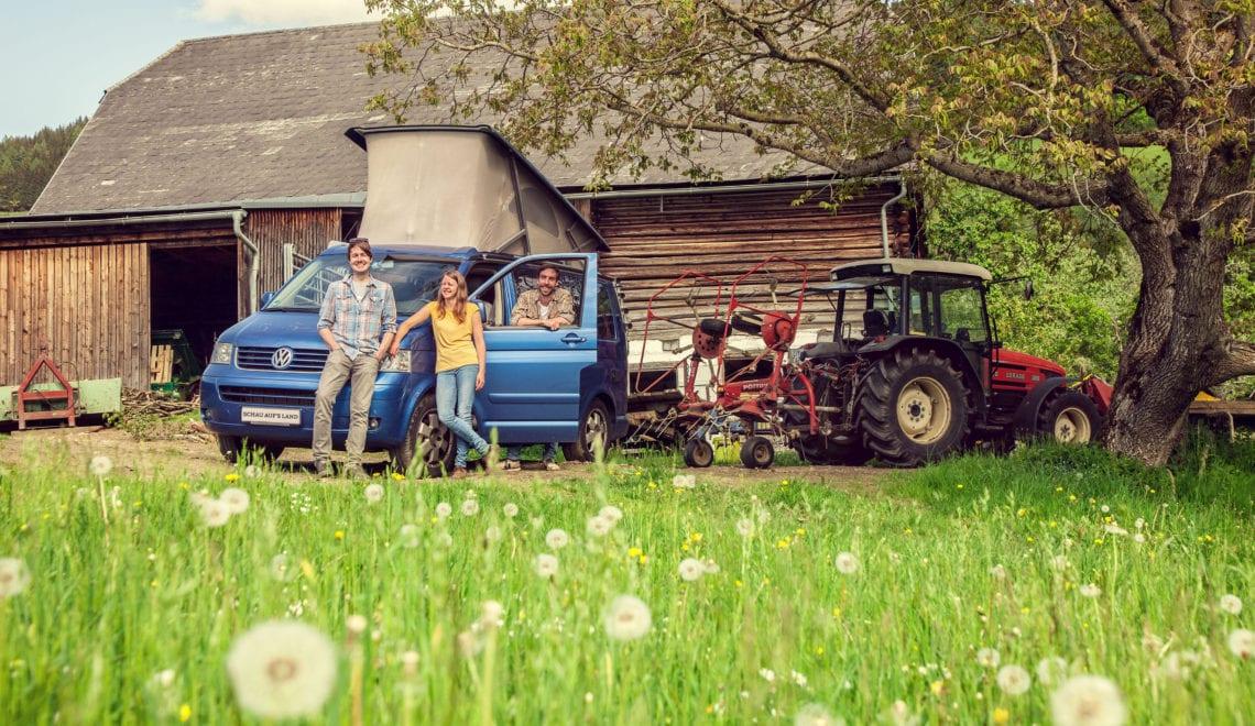 Wohnwagen trifft Bauernhof